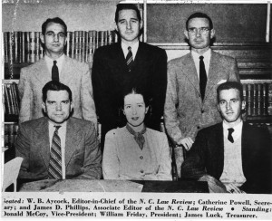 Aycock, seated bottom left, with fellow classmates. (1948)